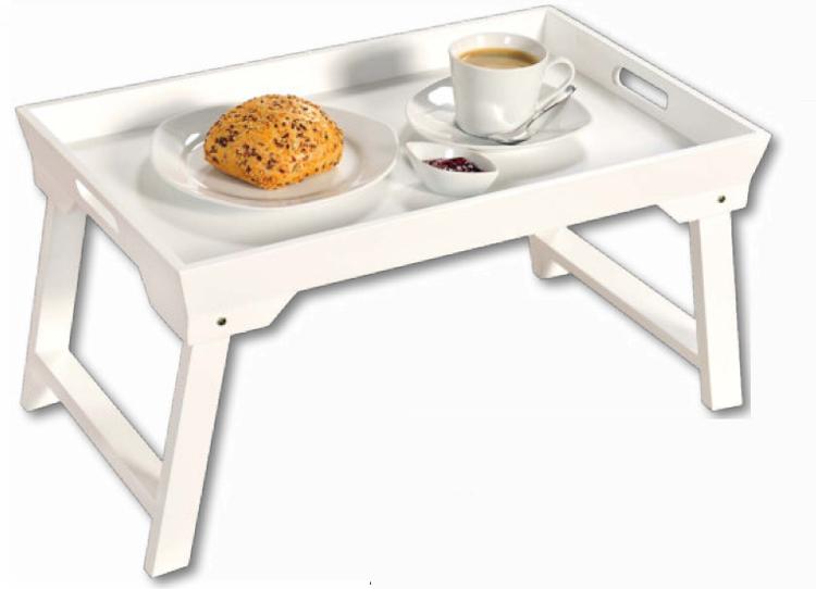 Stolik śniadaniowy Biały Składany Kesper Dom I Ogród