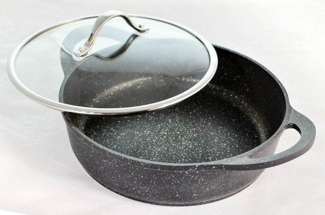 Garnek/patelnia Vinzer do duszenia Premium Granite Line 28cm 4,2 l