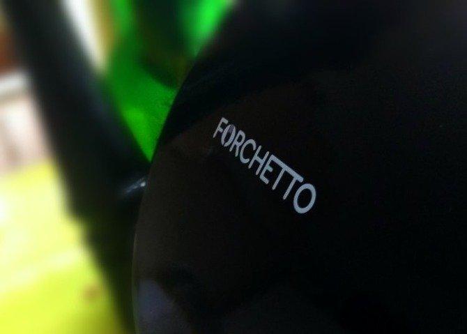 Czajnik emaliowany Forchetto Retro czarny 1,6l z gwizdkiem