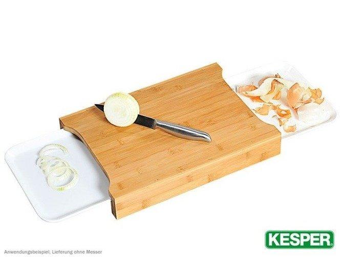 Deska do krojenia bambusowa KESPER z 2 szufladkami