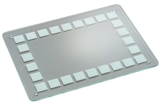 Deska szklana przezroczysta KESPER  23,5 x 14,5 - kwadraty