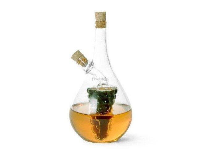Dzbanek do oliwy octu z korkiem Fissman 2w1 40ml+450ml
