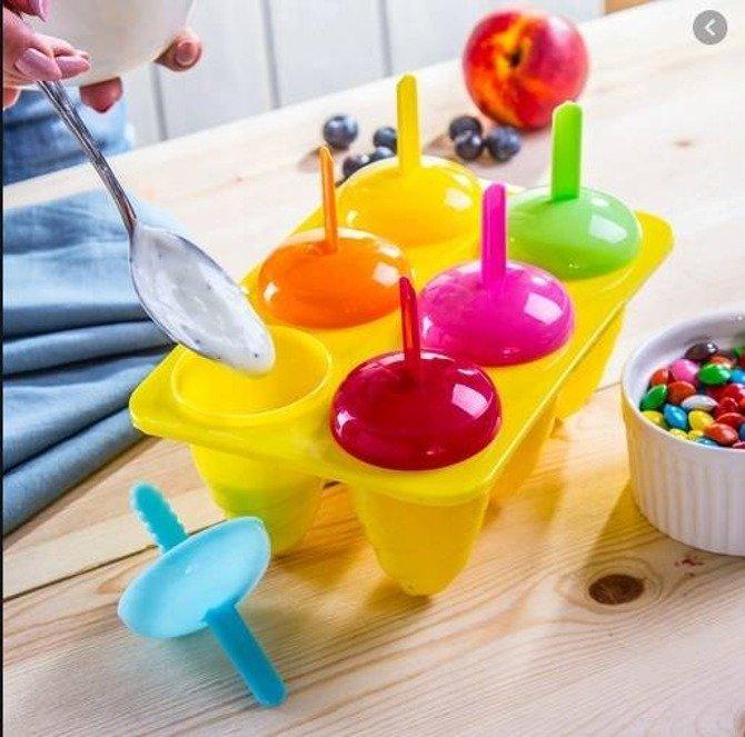 Foremki do lodów na patyku dla dzieci / Zestaw foremek na lody 6szt.