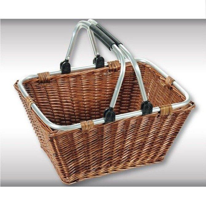 Wiklinowy Eko kosz na zakupy i piknik Kesper ze składanymi uchwytami