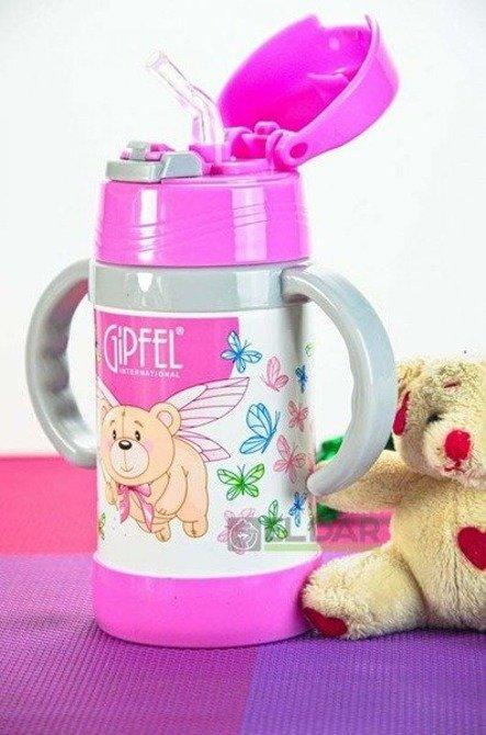 Kubek termiczny dla dzieci GIPFEL 260ml Różowy