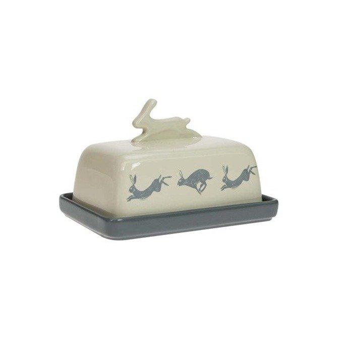 Maselnica ceramiczna z pokrywką DMD Artisan niebiesko kremowa