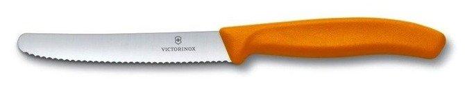 Nóż Victorinox do pomidorów ząbkowane ostrze pomarańczowy 11cm