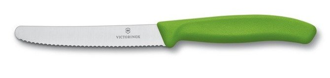 Nóż Victorinox do pomidorów ząbkowane ostrze zielony 11cm