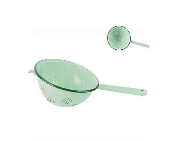 OUTLET (-40%) Durszlak emaliowany ORION  zielony 18 cm