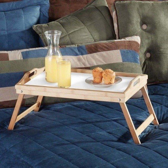 OUTLET (-40%) Stolik śniadaniowy z drewna sosnowego składany Kesper