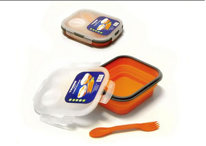Pojemnik Lunchbox silikonowy z łyżką i widelcem