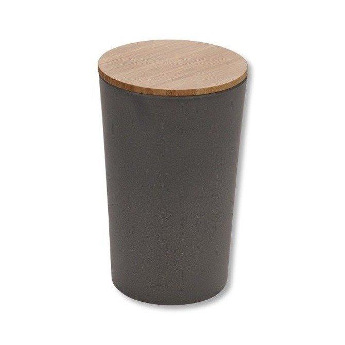 Pojemnik bambusowy Kesper na produkty sypkie z uszczelką Ø 11cm