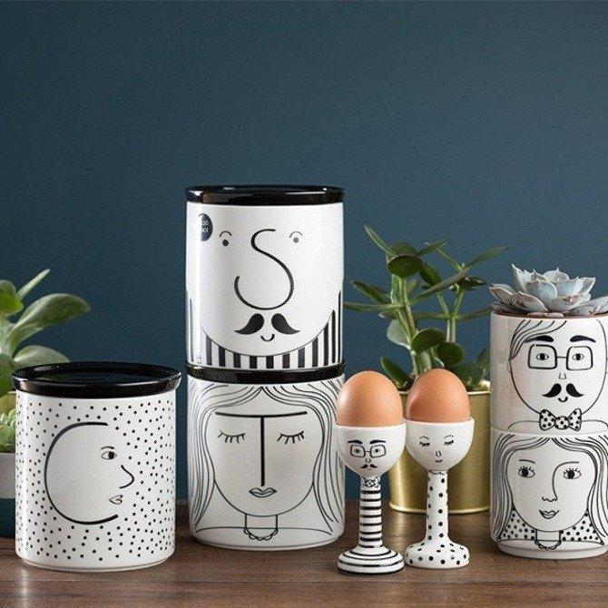 Pojemnik ceramiczny Looking Good do kawy z pokrywą