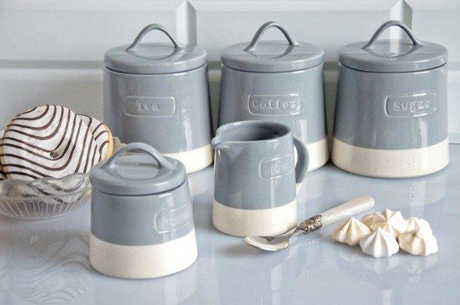 Pojemnik ceramiczny do cukru Artisan Niebieski