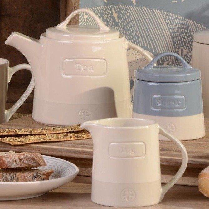 Pojemnik ceramiczny do kawy Artisan kremowy