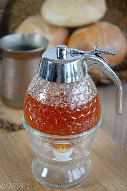 Szklany dozownik do miodu / syropu  250 ml Orion