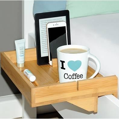 Taca do łóżka półka łóżkowa Kesper drewniana 33x24cm