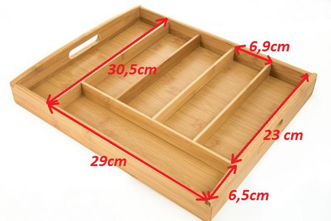Wkład  do szuflady na sztućce Kesper 32-38cm