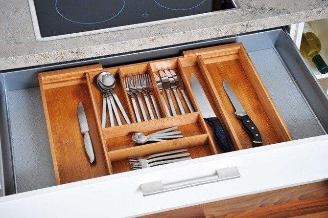 Wkład do szuflady rozsuwany Kesper 35-58cm / Organizer na sztućce